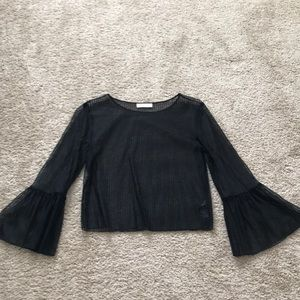 Black mesh top from Aritzia